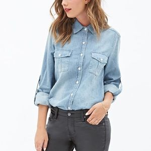 Forever 21 Tops - chambray top medium wash